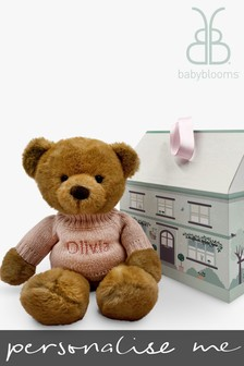 Babyblooms Personalised Pink Charlie Bear Soft Toy