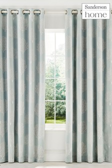 Sanderson Home Cora Lined Eyelet Curtains