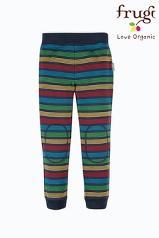 Frugi GOTS Organic Kids Cotton Rainbow Stripe Lightweight Joggers