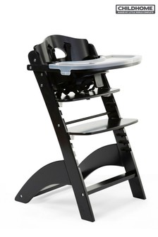 Childhome Baby Grow Lambda 3 High Chair with Tray and Cover Black