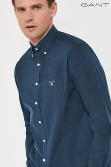 GANT Blue Regular Broadcloth Shirt