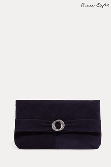 Phase Eight Blue Joelle Clutch Bag