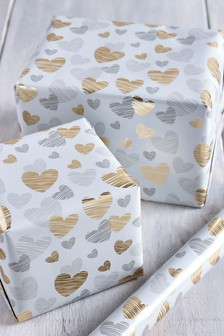 6M Hearts Wrapping Paper