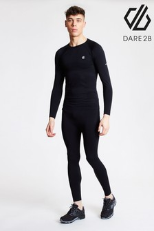 Dare 2B Black Mens In The Zone Base Layer Running Set