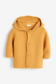 Ochre Bear Hooded Cardigan (0mths-3yrs)