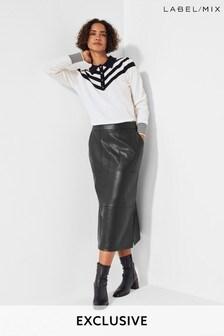Next/Mix PU Midi Skirt