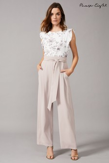 Phase Eight Cream Victoriana Printed Jumpsuit