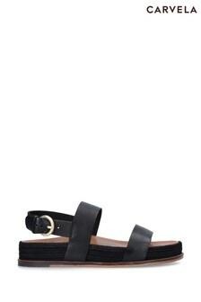Carvela Black Kin Sandals