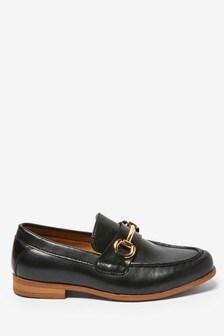 Black Snaffle Loafers (Older)