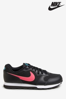 Nike Black/Pink MD Runner Youth Trainers