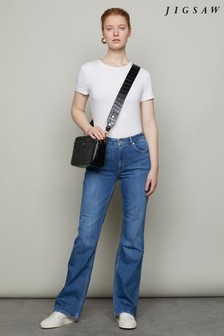 Jigsaw Blue High Rise Flare Jeans