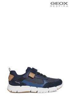 Geox Junior Boy's Flexyper Navy/Cognac Shoes