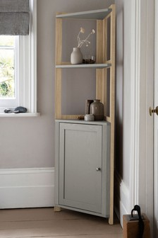 Dove Grey Malvern Corner Cupboard