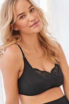 Black Maternity Supersoft Wire Free Bra