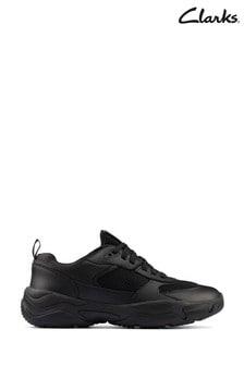 Clarks Black Kuju Run Youths Shoes