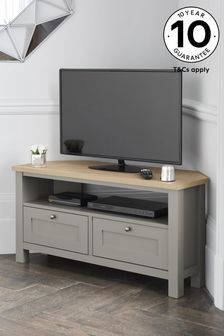 Dove Grey Malvern Corner TV Stand