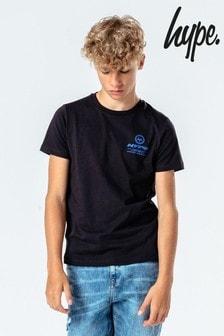 Hype. Kids Black Large Logo Back Print T-Shirt
