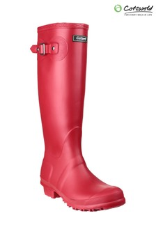 Cotswold Red Sandringham Wellington Boots