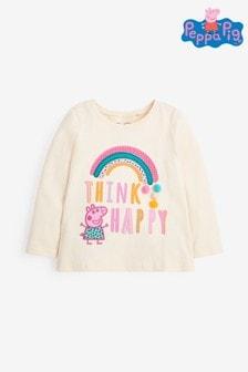 White Peppa Pig™ Rainbow T-Shirt (3mths-7yrs)