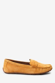 Ochre Suede Leather Forever™ Driver Shoes
