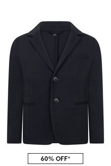 Emporio Armani Boys Navy Suit Jacket