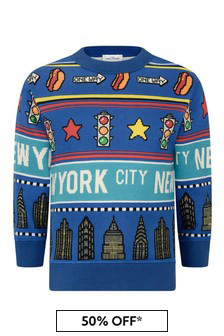 Boys Blue Cotton New York City Sweater