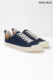 White Stuff Blue Mens Canvas Trainers