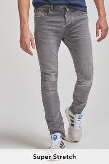 Light Grey Skinny Fit Super Stretch Comfort Jeans