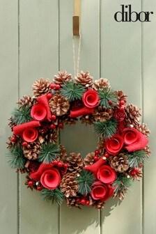 Dibor Winter Roses Wreath