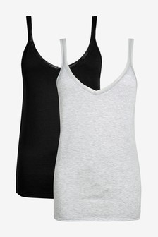 Black/Grey 2 Pack Thermogen Vest Tops
