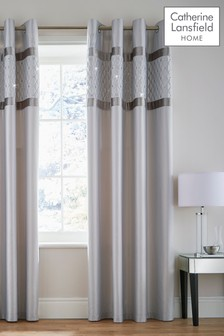 Sequin Cluster Eyelet Curtains by Catherine Lansfield