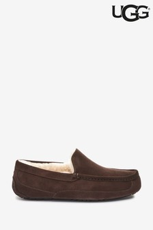 UGG® Espresso Brown Ascot Slippers
