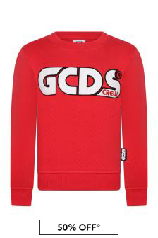 Kids Red Cotton Sweatshirt