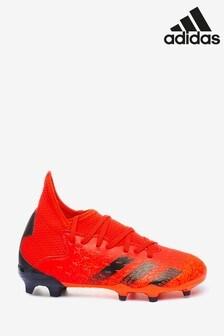 adidas Red Predator P3 Kids Firm Ground Football Boots
