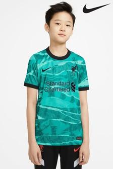 Nike Turquoise Liverpool Away 20/21 Kids Football Shirt