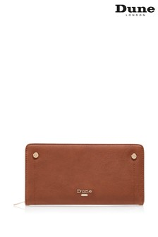 Dune London Tan Korrie Contrast Lining Zip Purse