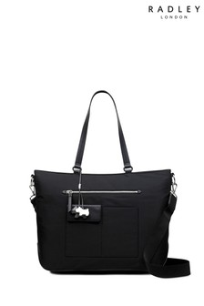 Radley Black Mini Me Large Zip Top Tote Bag