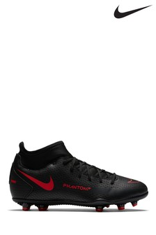 Nike Black/Red Phantom GT Club Dynamic Fit Junior And Youth Football Boots