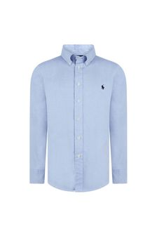 Boys Light Blue Long Sleeve Blake Shirt