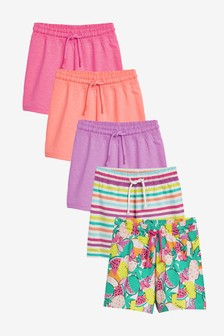 Multi Bright 5 Pack Shorts (3-16yrs)
