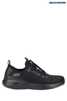 Skechers® Black Solar Fuse-Valedge Slip-On Jogger Trainers With Lace