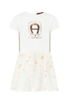Aigner White Cotton Dress