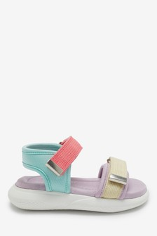 Lilac Memory Foam Sporty Sandals (Younger)