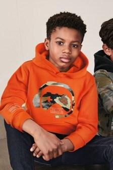 Orange Graphic Hoody (3-16yrs)