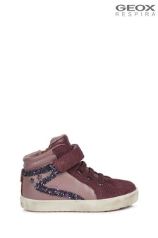 Geox Baby Girl's Kilwi Rose Smoke/Prune Sneakers