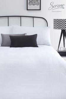 Serene Amalfi Pin Tuck Duvet Cover and Pillowcase Set