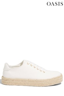 Oasis White Espadrille Trainers