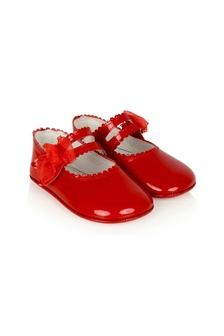 Andanines Baby Girls Red Leather Shoes