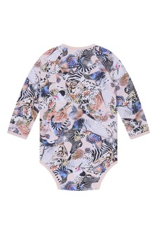 Baby Girls Pink Animals Organic Cotton Bodysuit