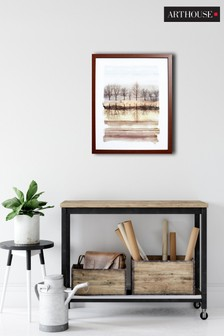 Trees Landscape Framed Print by Arthouse